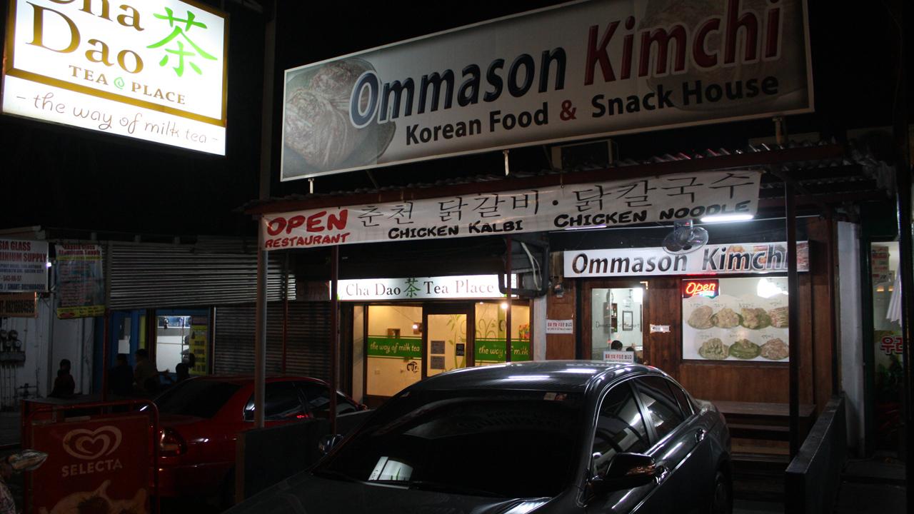 ケソンシティの韓国料理屋のOmmason Kimchi