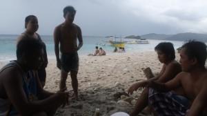 スービックの島で交流した地元のフィリピン人